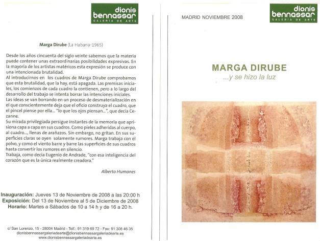 Texto de Alberto Humanes - expo Dionis Bennassar Nov.2008