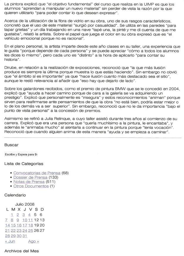 Gabinete de comunicación UIMP/Julio 2008/Taller de pintura/(pag.4)